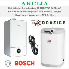 Akcijinis Bosch 7000iW ir Dražice šildymo įrangos komplektas