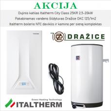 Akcijinis Italtherm ir Dražice šildymo įrangos komplektas