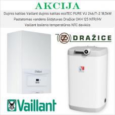 Akcijinis Vaillant ir Dražice šildymo įrangos komplektas