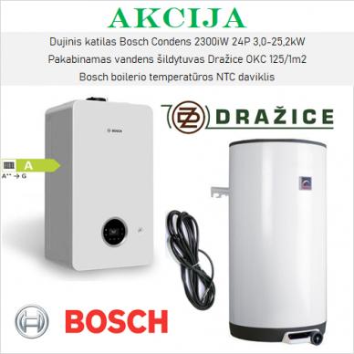 Akcijinis Bosch 2300iW ir Dražice šildymo įrangos komplektas