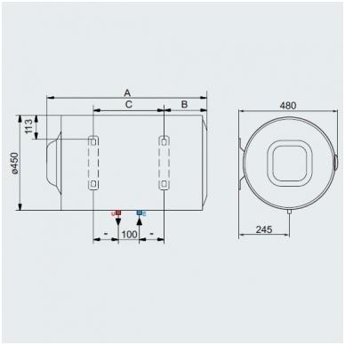 Ariston vandens šildytuvas PRO1 R 100 H 2