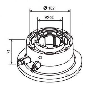 Bosch išmetamųjų dujų katilo adapteris Ø60/100 2