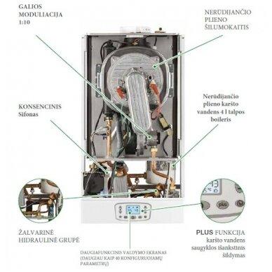 Dujinis kondensacinis katilas italtherm Time Micro 27 K 2