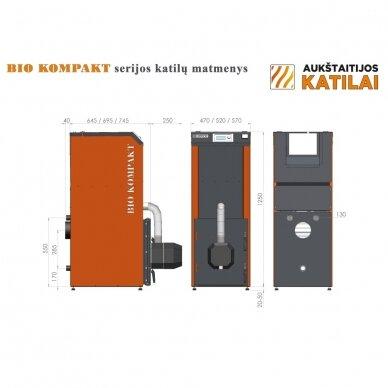 Kompaktiškas granulinis katilas Bio Kompakt 20kW 4