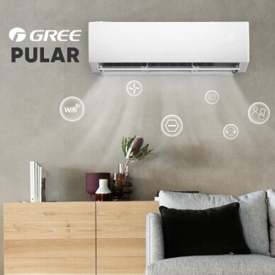 GREE oro kondicionierius PULAR 6,2/6,5kW su WiFi 2