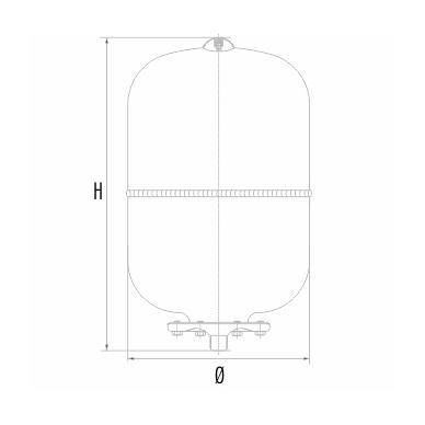 Išsiplėtimo indas Aquasystem AR12+ 2