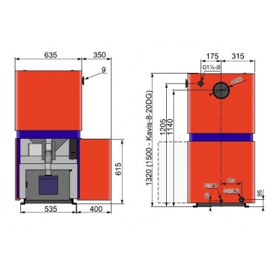 Kalvis K-8-10DG 10kW 2