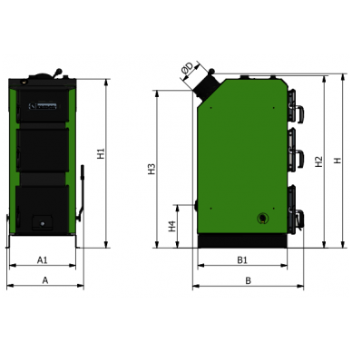 Kieto kuro katilas Kamen DREMAX 16 kW 3