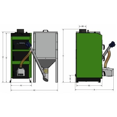 Kamen PELLET Kompakt 20kW 3