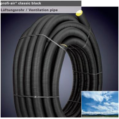 Lankstus ortakis profi-air classic Dn75 juodas 50m.