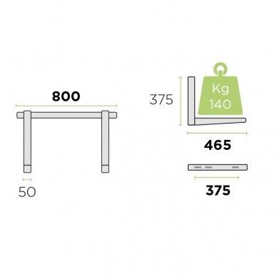 Lauko bloko sieninis laikiklis MS253, iki 140 kg 2