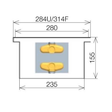 Licon konvektorius grindinis PK-240/15/28 4