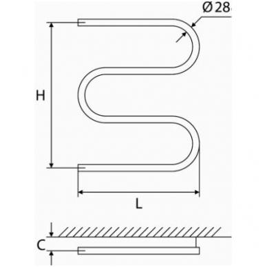 Nerūdijančio plieno gyvatukas Elonika EN 460 S 2