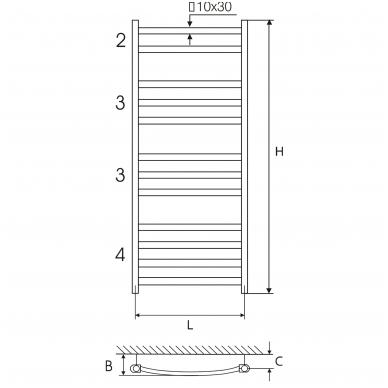Plieninis baltas rankšluosčių džiovintuvas Elonika EP 50x118 KLD 2