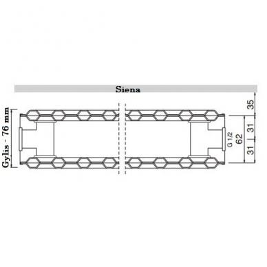 Plieninis renovacinis radiatorius HM 20K-550-600 2