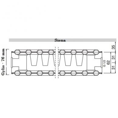Plieninis renovacinis radiatorius HM 21K-550-1200 2