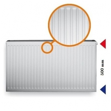 Plieninis renovacinis radiatorius HM 22K-550-800
