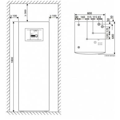 Šilumos siurblys Bosch Compress 6000 8 LWM 3