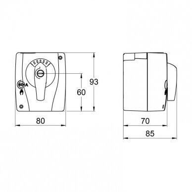 LK Armatur pavara LK950 1~230V; 140s; 10Nm 2